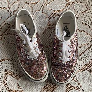 Girls glittery vans